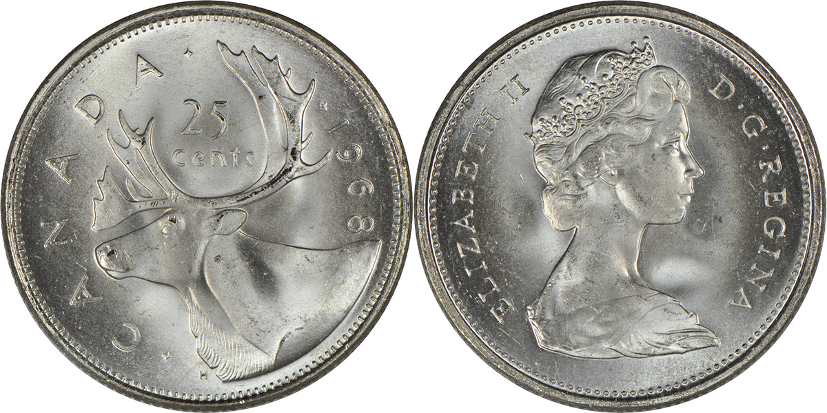 25 cents 1968