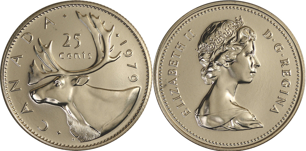 Coins and Canada - 25 cents 1979 - Canadian coins price