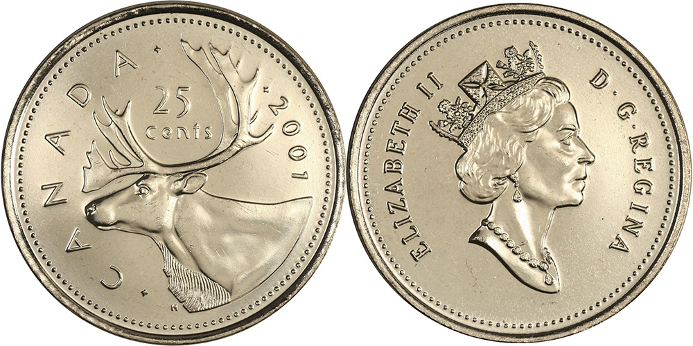 25 cents 2001