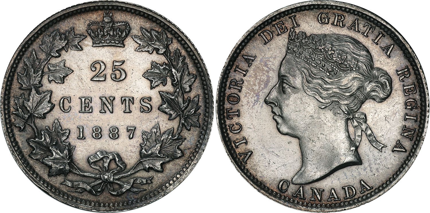 25 cents 1887
