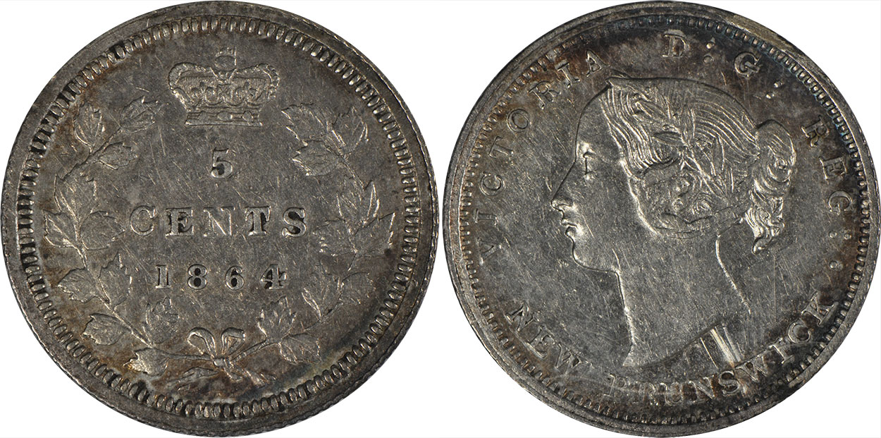 5 cents 1864 - New Brunswick