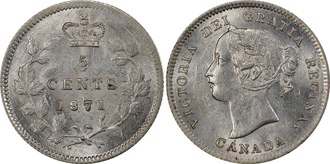 5 cents 1871