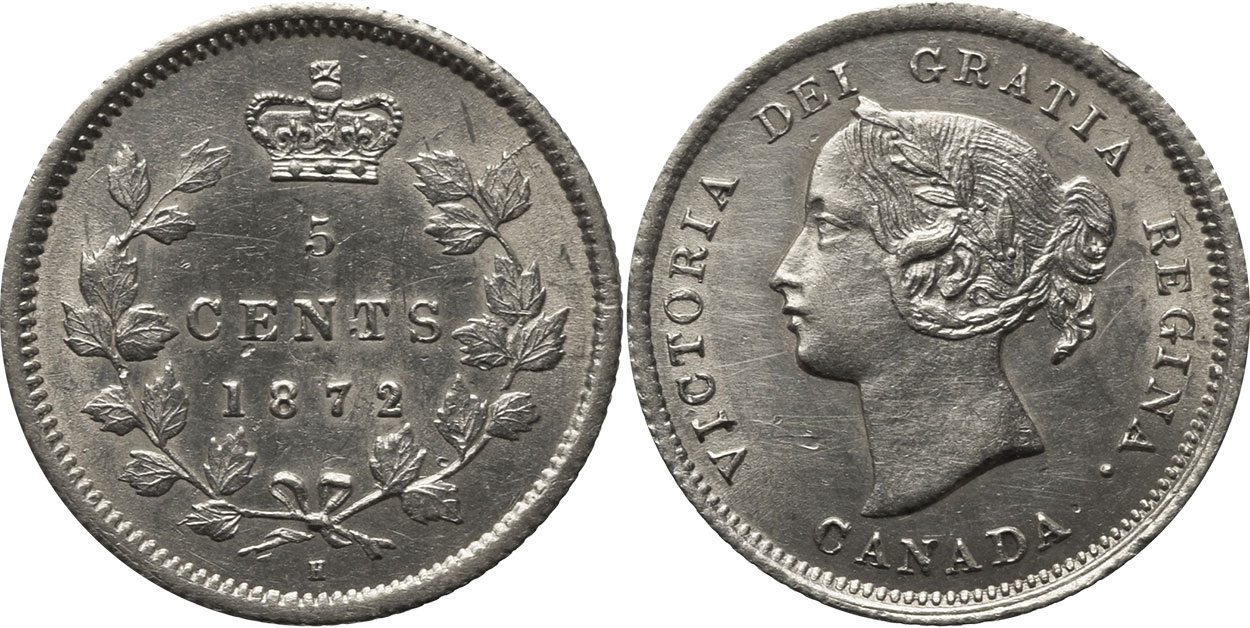 5 cents 1872
