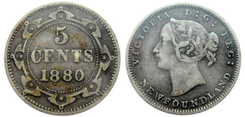 5 cents 1882 - Newfoundland