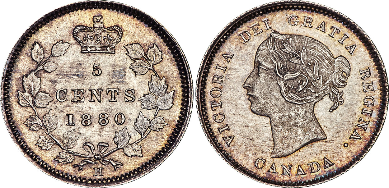 5 cents 1881