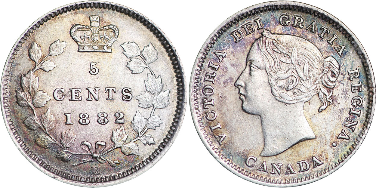 5 cents 1883