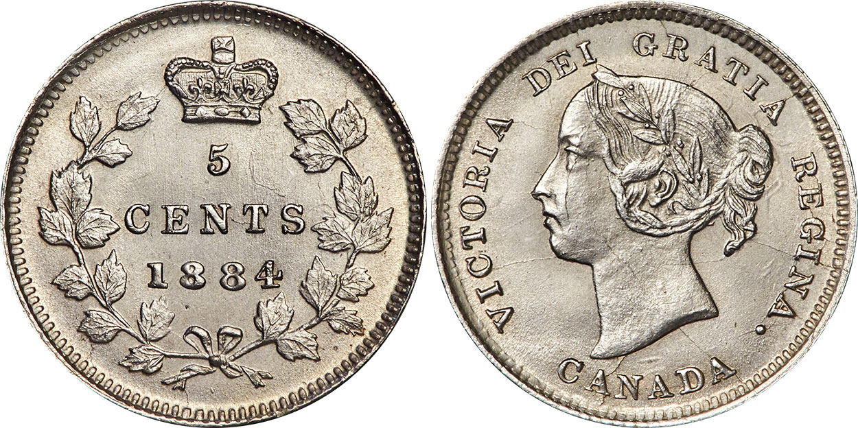 5 cents 1884