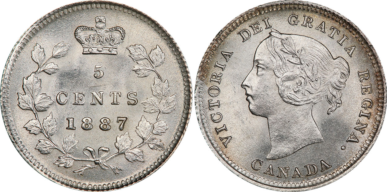 5 cents 1889