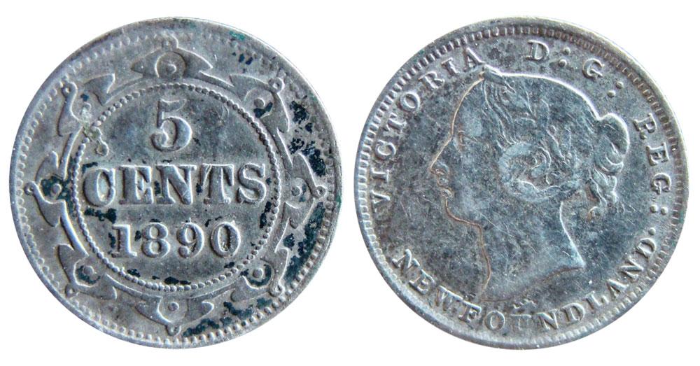 5 cents 1890 - Newfoundland