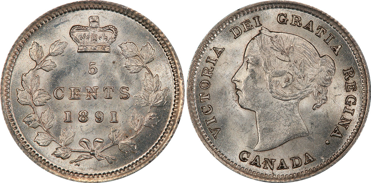 5 cents 1891