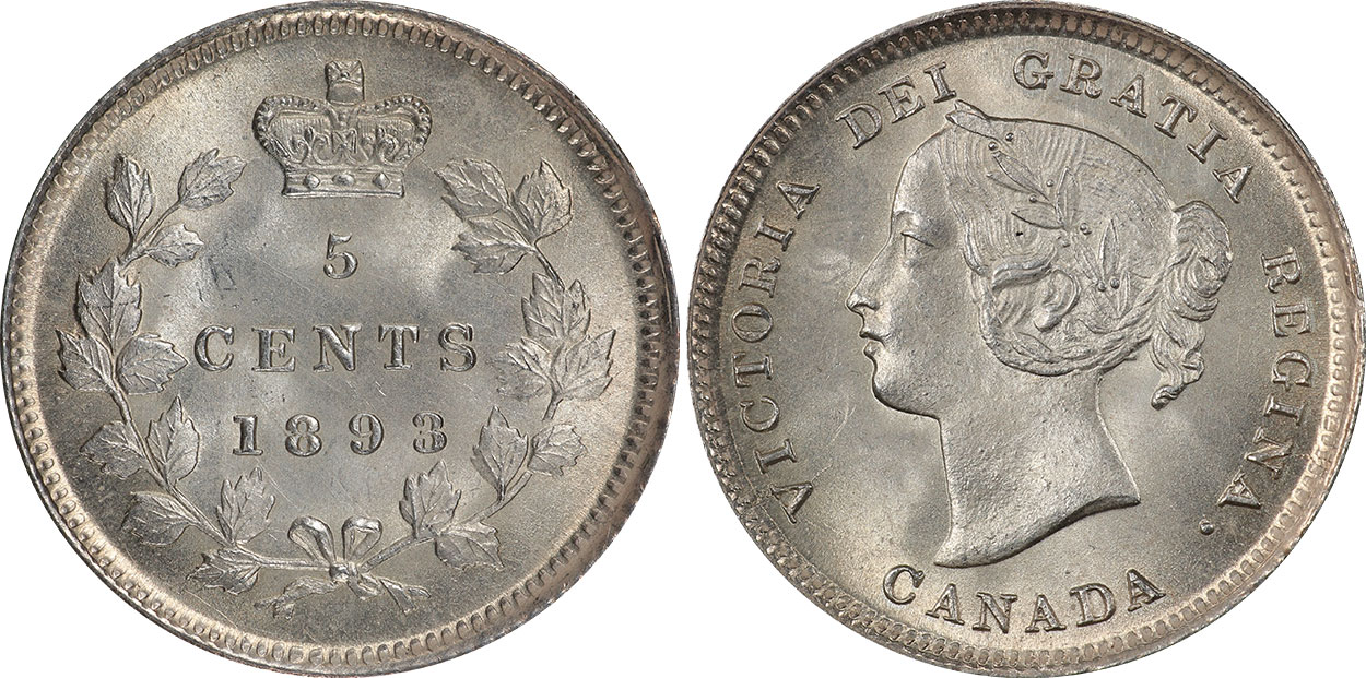 5 cents 1893
