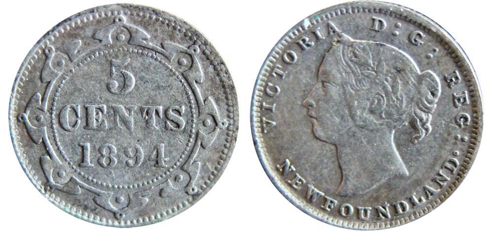 5 cents 1894 - Newfoundland
