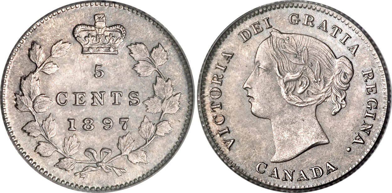 5 cents 1897