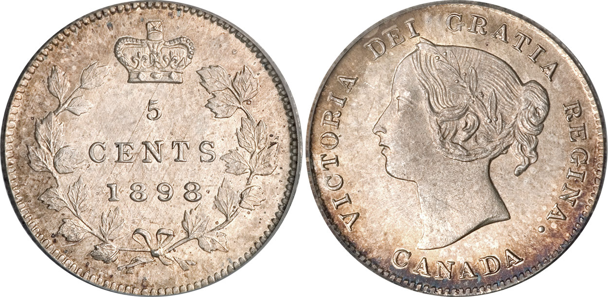 5 cents 1898