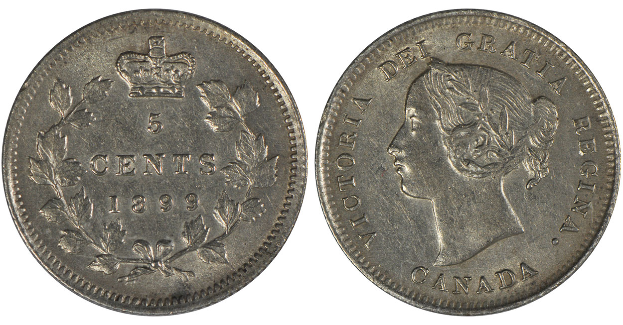 5 cents 1901