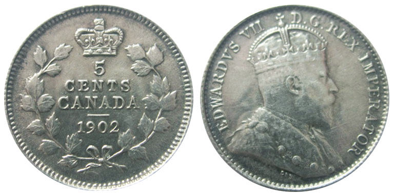 5 cents 1902