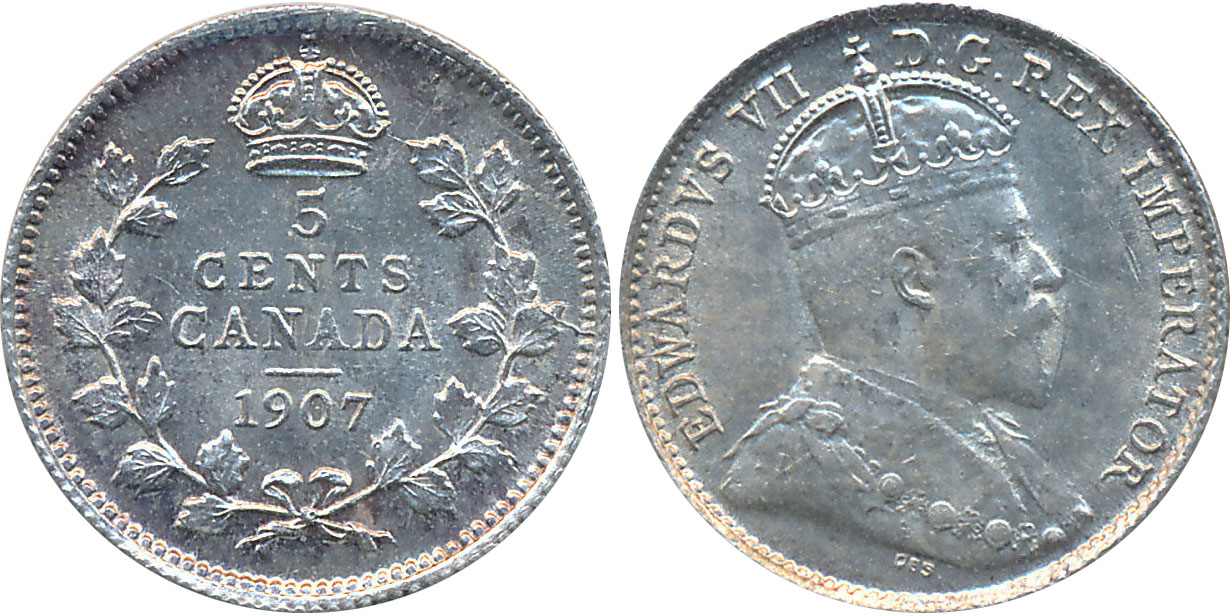5 cents 1909