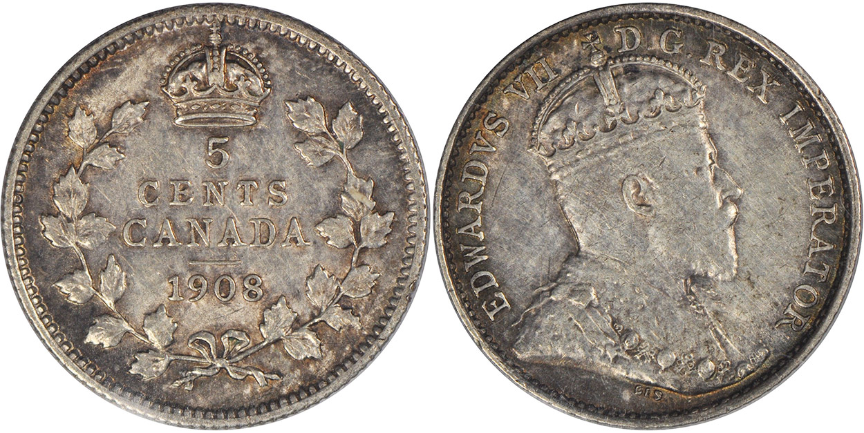 5 cents 1908