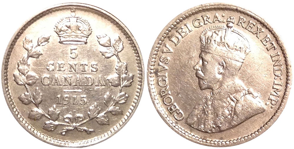 5 cents 1915