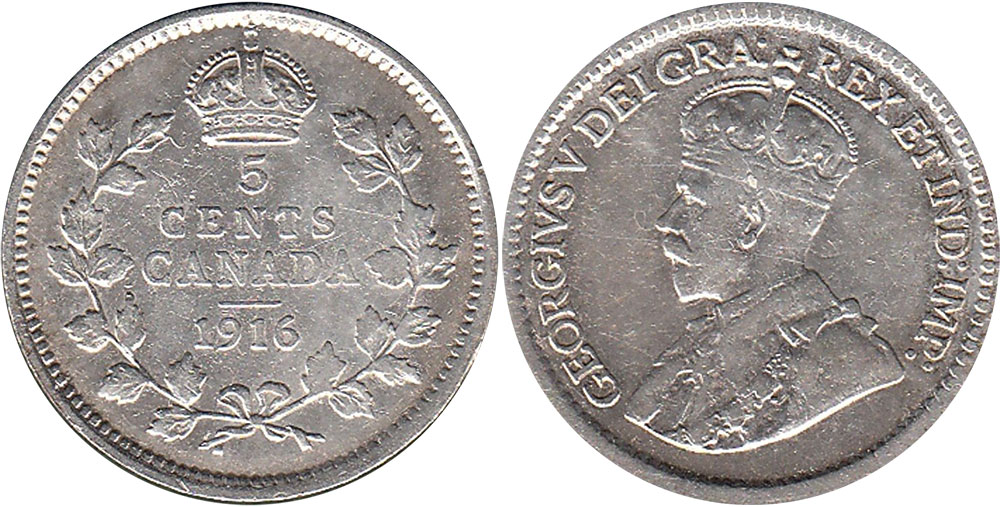 5 cents 1916