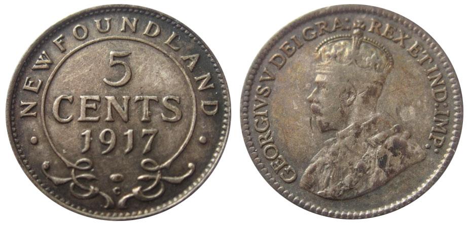 5 cents 1917 - Newfoundland