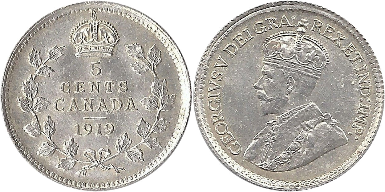 5 cents 1919
