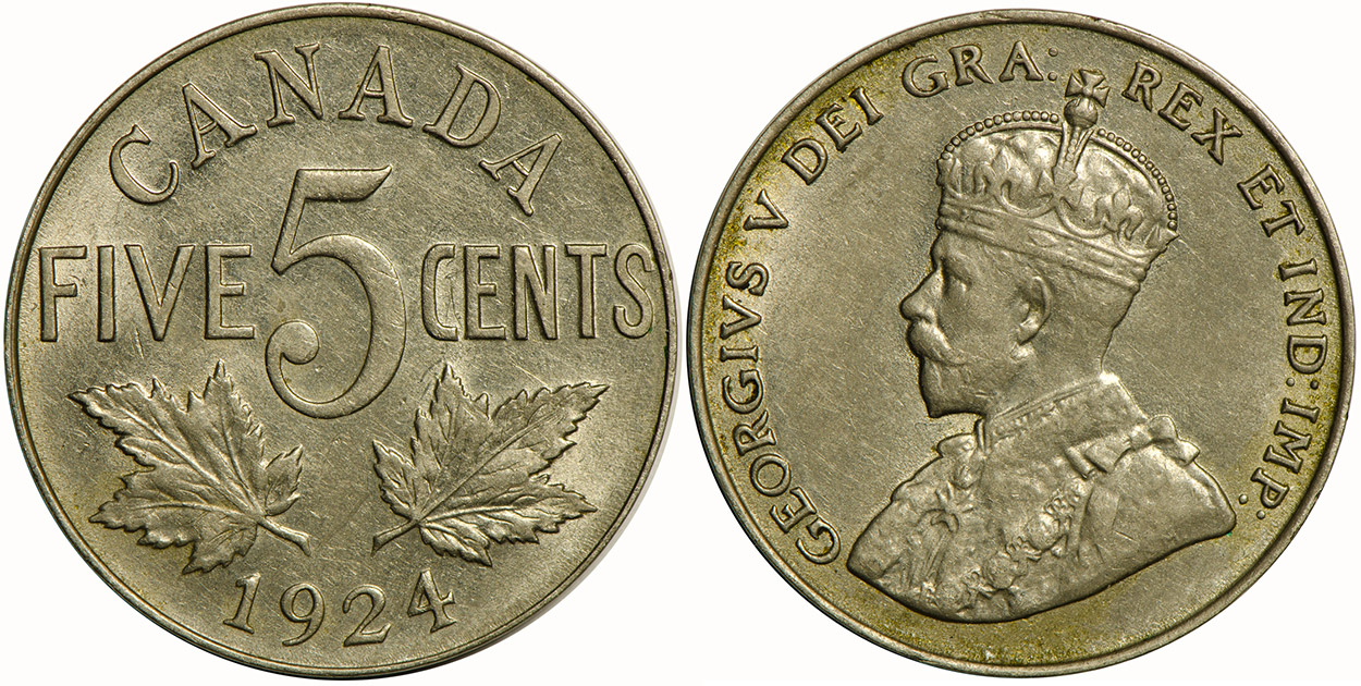 5 cents 1924