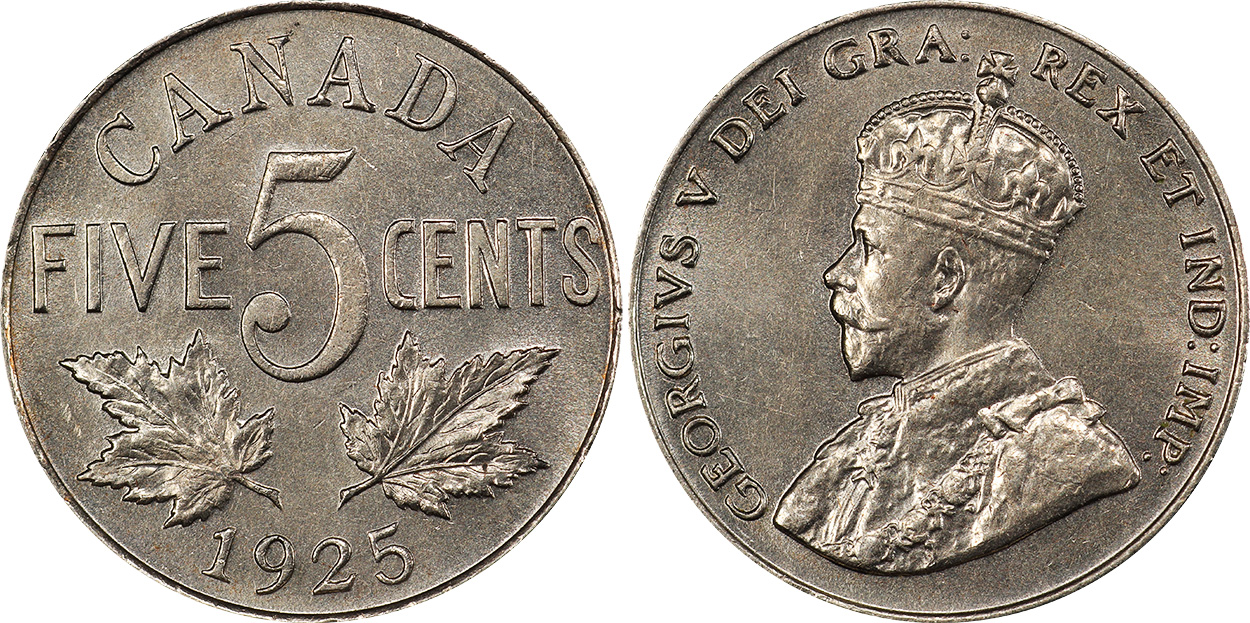 5 cents 1925