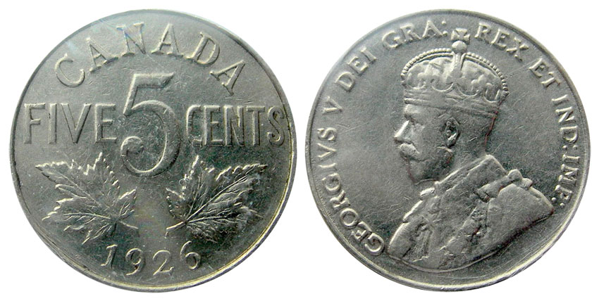 5 cents 1926
