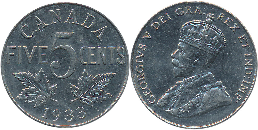 5 cents 1933