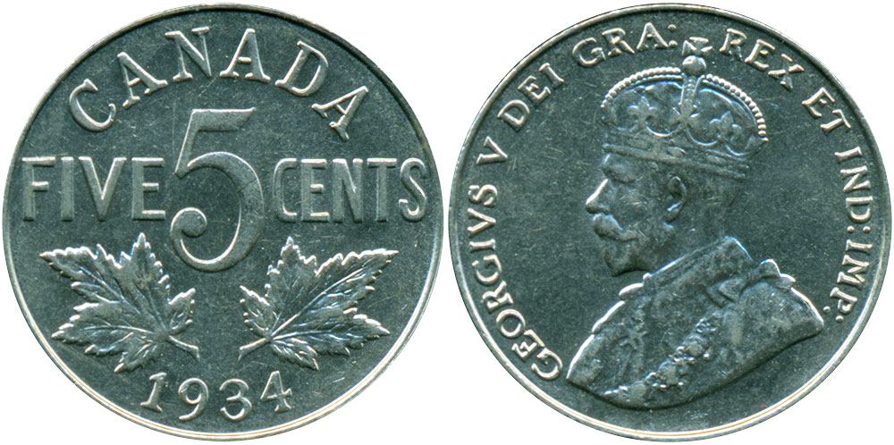 5 cents 1934