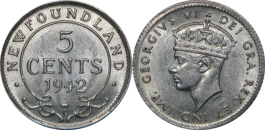 5 cents 1942 - Newfoundland