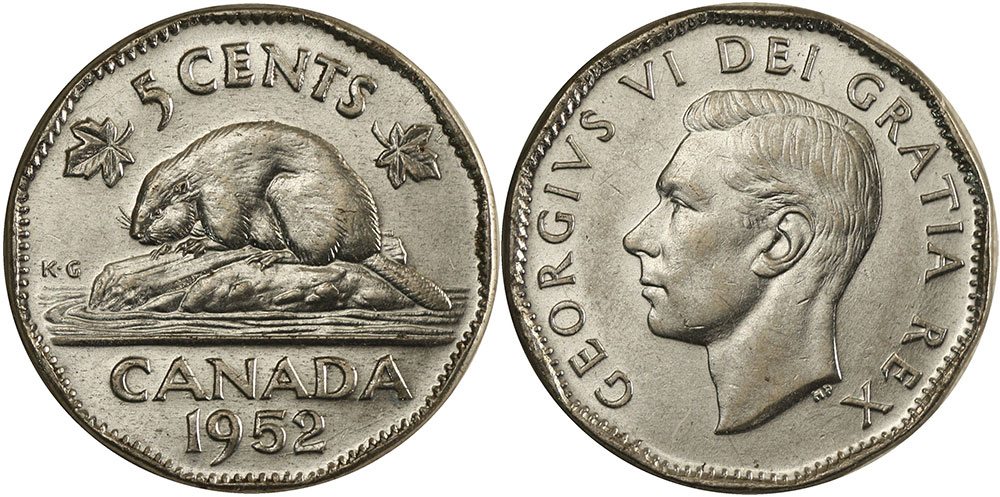 5 cents 1952