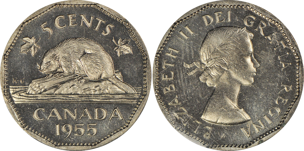5 cents 1955
