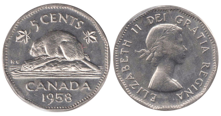 5 cents 1958
