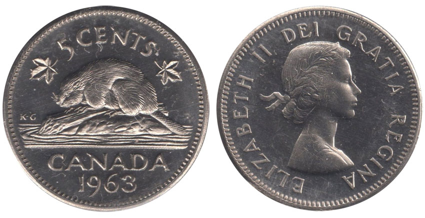 5 cents 1963