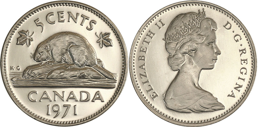 5 cents 1971