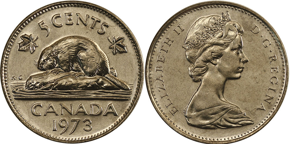 5 cents 1973