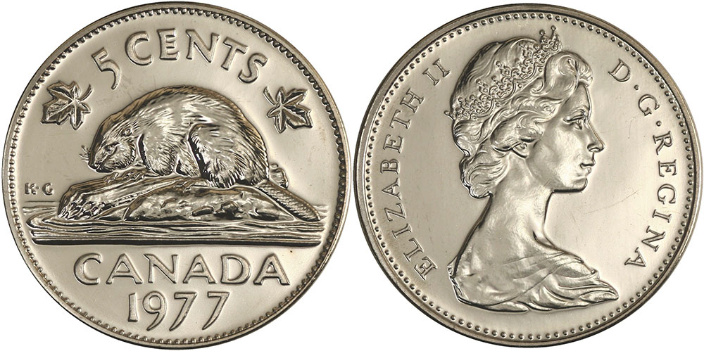 coins and canada 5 cents 1977 canadian coins price guide and values