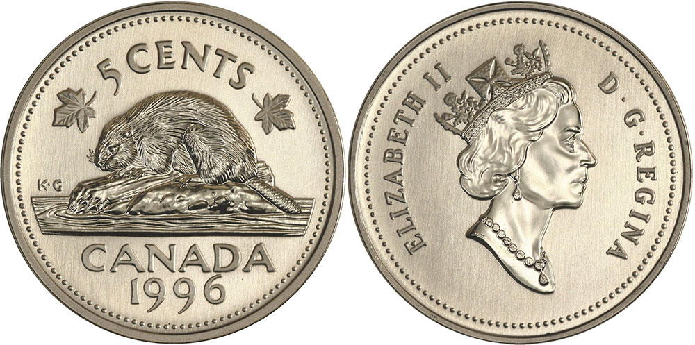 5 cents 1996