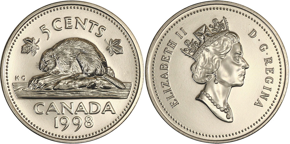 5 cents 1998