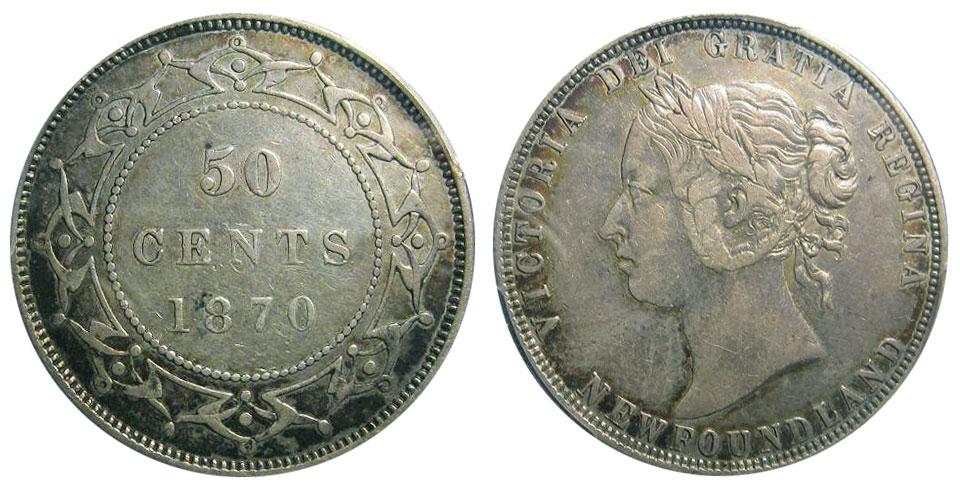 50 cents 1870 - Newfoundland