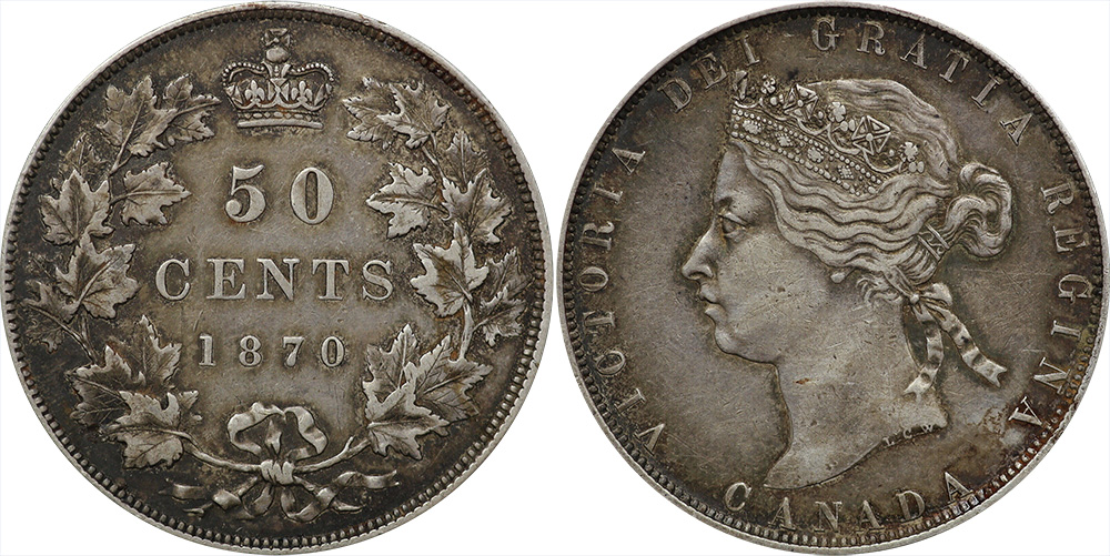 50 cents 1870