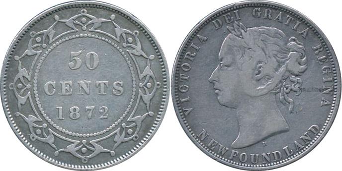 50 cents 1872 - Newfoundland