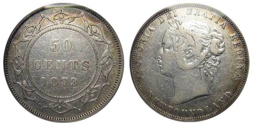 50 cents 1873 - Newfoundland