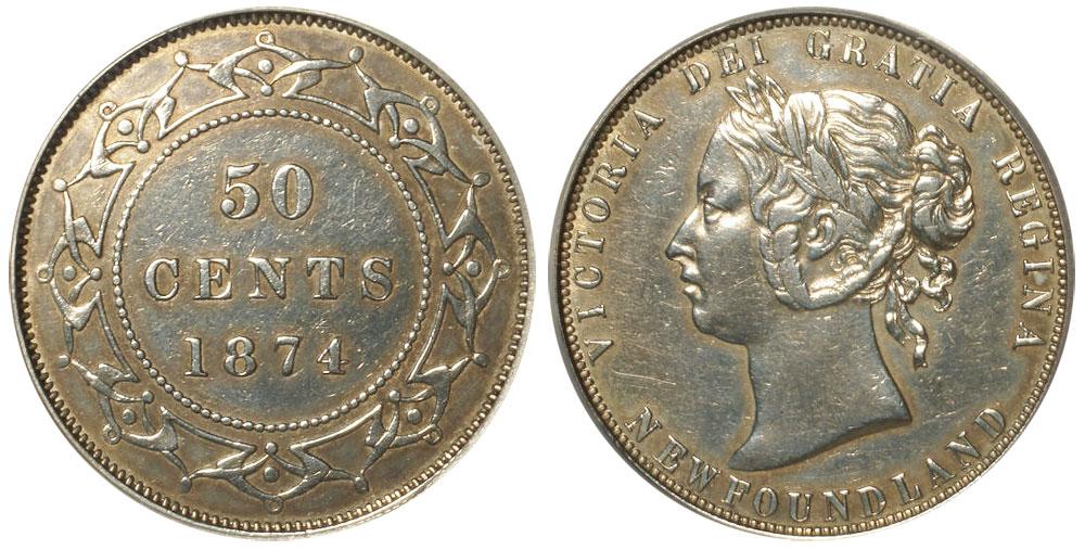 50 cents 1874 - Newfoundland