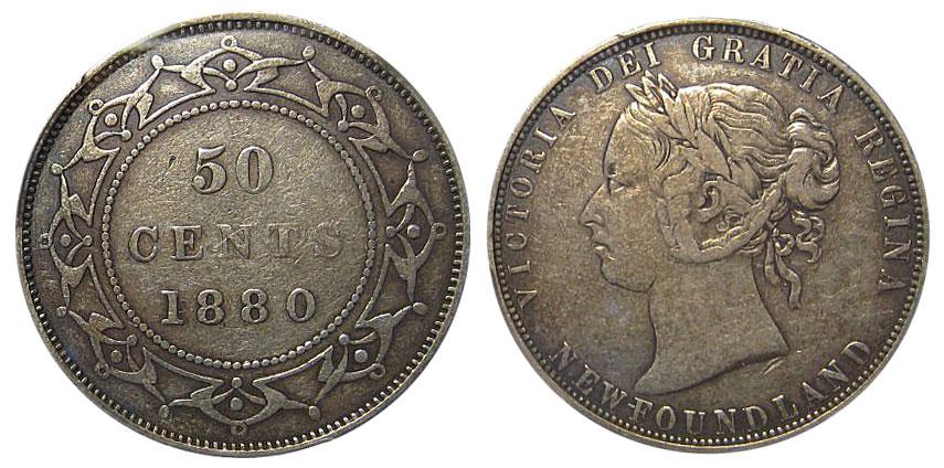50 cents 1880 - Newfoundland