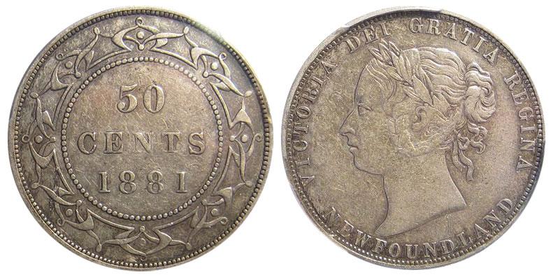50 cents 1881 - Newfoundland