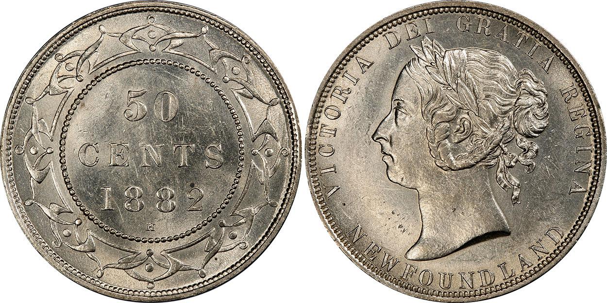 50 cents 1882 - Newfoundland