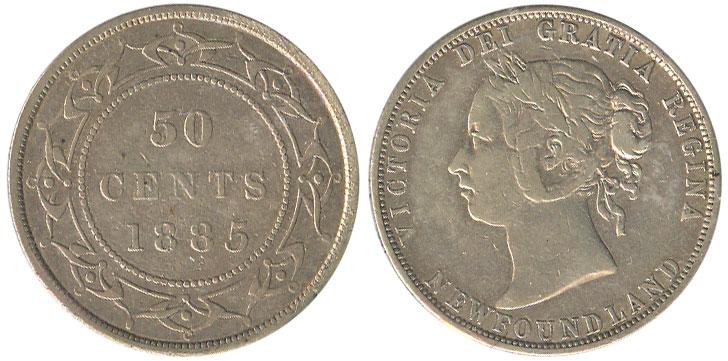 50 cents 1885 - Newfoundland